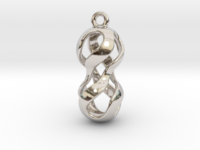 Twisted Earring in Rhodium Plated Brass