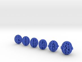 Spheroid Envelope dice in Blue Strong & Flexible Polished: Polyhedral Set