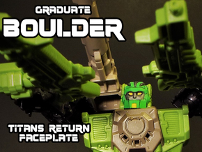 Graduate Boulder Faceplate (Titans Return) in Smooth Fine Detail Plastic