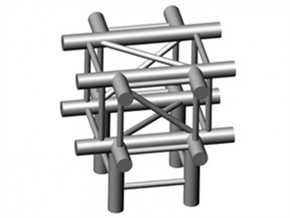 Square Truss X+L90-piece 1.10 in White Strong & Flexible