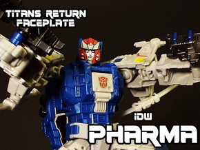 Pharma Faceplate (Titans Return Compatible) in Smooth Fine Detail Plastic