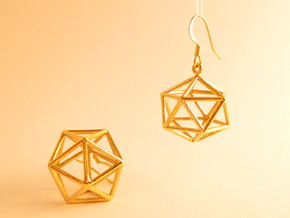 Water earrings in 18k Gold Plated Brass