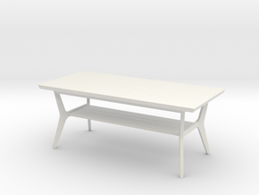 Retro Coffee Table in White Strong & Flexible: 1:48
