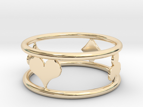 Suit Ring Size 5 in 14k Gold Plated Brass: 4 / 46.5