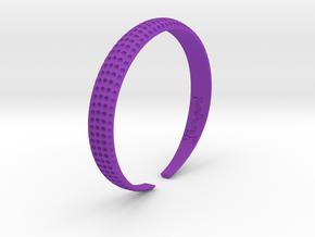 Voilà Cuff in Purple Processed Versatile Plastic: Large
