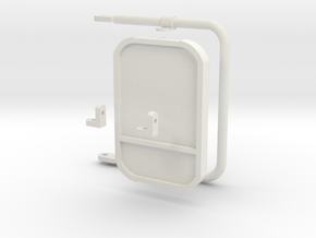 1:6 scale Hasbro HMMWV Driver mirrors in White Natural Versatile Plastic