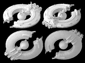 (Armada) Lucrehulk Droid Control Ship in White Natural Versatile Plastic