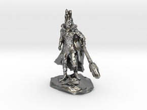 The Dark Lord with His Deadly Mace - 1/72 scale in Fine Detail Polished Silver