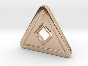 TD-N in 14k Rose Gold Plated Brass