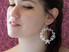 Baroque Hoops in White Processed Versatile Plastic