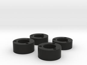 RC4WD Bully II Hub spacers in Black Natural Versatile Plastic