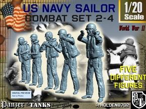 1-20 US Navy Sailors Combat SET 2-4 in White Strong & Flexible
