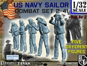 1-32 US Navy Sailors Combat SET 2-41 in Smooth Fine Detail Plastic