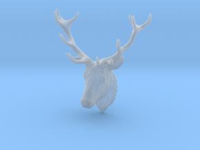 Deer Head Wall Mount in Smooth Fine Detail Plastic