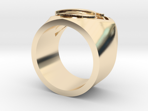 SuperManRIng - Man Of Steel Size US9 in 14k Gold Plated Brass