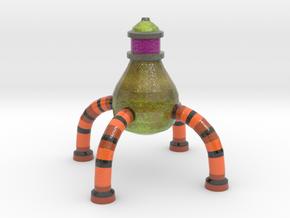 Pear UFO v5 in Glossy Full Color Sandstone