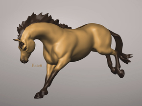 Bucking/Leaping Horse in White Natural Versatile Plastic