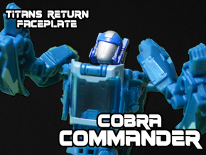 Cobra Commander Face (Titans Return) in Frosted Ultra Detail