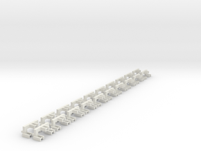 20 3pt Attachments Bulk in White Natural Versatile Plastic