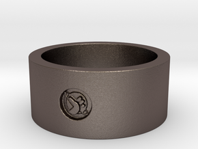 HGTG v9 x2  Ring Size 9 in Polished Bronzed Silver Steel