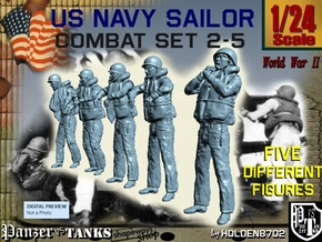 1-24 US Navy Sailors Combat SET 2-5 in White Strong & Flexible
