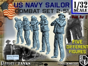 1-32 US Navy Sailors Combat SET 2-51 in Frosted Ultra Detail