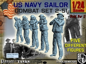 1-24 US Navy Sailors Combat SET 2-51 in White Strong & Flexible