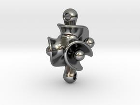 Triple Torus Pendant in Polished Silver (Interlocking Parts)