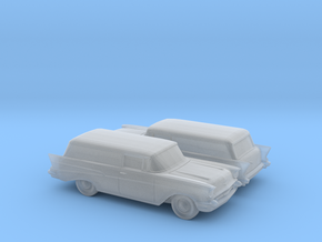 1/160 2X 1957 Chevrolet 2 Door Delivery in Smooth Fine Detail Plastic
