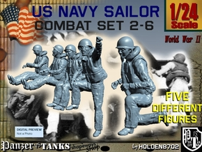1-24 US Navy Sailors Combat SET 2-6 in White Strong & Flexible