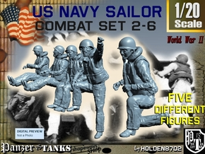 1-20 US Navy Sailors Combat SET 2-6 in White Natural Versatile Plastic