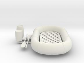 Best Cost 1/20 USN Life Raft Oval KIT in White Natural Versatile Plastic: 1:20