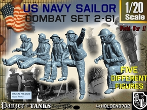 1-20 US Navy Sailors Combat SET 2-61 in White Strong & Flexible