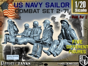 1-20 US Navy Sailors Combat SET 2-71 in White Natural Versatile Plastic