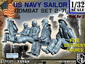 1-32 US Navy Sailors Combat SET 2-71 in Frosted Ultra Detail