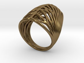Echo.E ring in Polished Bronze