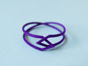 Interlocking Triangles Ring in Purple Strong & Flexible Polished: 8 / 56.75