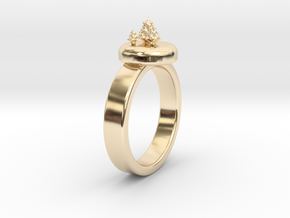 ChristmasTrees Ring Ø0.677 inch/Ø17.20 Mm in 14K Yellow Gold: 1.5 / 40.5