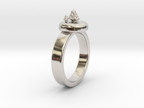 ChristmasTrees Ring Ø0.677 inch/Ø17.20 Mm in Rhodium Plated: 7 / 54