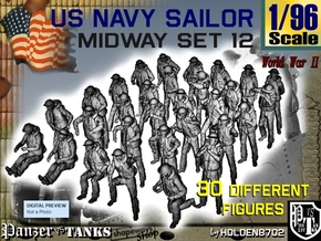 1-96 US Navy MIDWAY Set 12 in Smooth Fine Detail Plastic