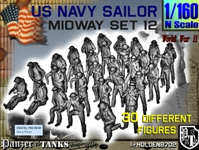 1-160 US Navy MIDWAY Set 12 in Frosted Ultra Detail
