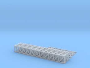 N Truss 78x10x6mm +supports43mm in Smooth Fine Detail Plastic