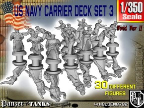 1/350 US Navy Carrier Deck Set 3 in Frosted Extreme Detail