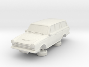 1-76 Ford Cortina Mk1 4 Estate in White Natural Versatile Plastic