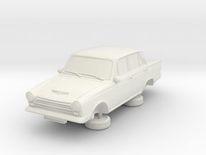 1-76 Ford Cortina Mk1 4 Door in White Natural Versatile Plastic
