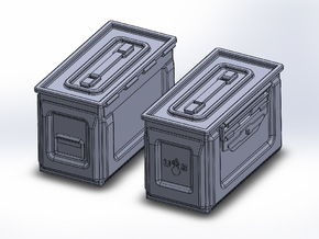 1/48 .50 cal Ammo Cans (24) in Smooth Fine Detail Plastic