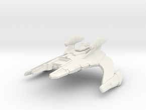 "Jem'Hadar Cruiser  4.6"" in White Natural Versatile Plastic"