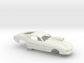 1/12 67 Pro Mod Mustang GT W Snorkel Scoop in White Strong & Flexible