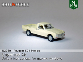 Peugeot 504 Pick-up (N 1:160) in Smooth Fine Detail Plastic