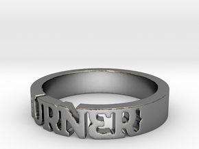 BlakOpal 'Burner' Cutout Band in Polished Silver: 11 / 64
